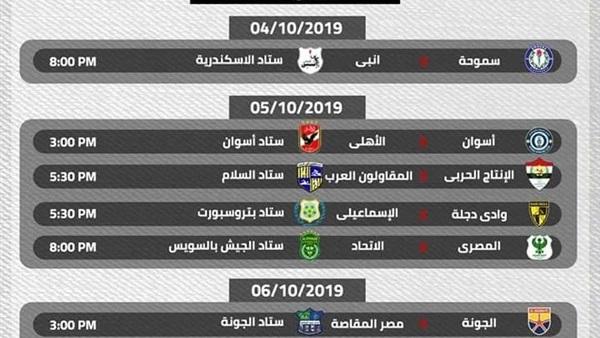 بالساعة والدقيقة مواعيد مباريات الأهلي كاملة في بطولة الدوري